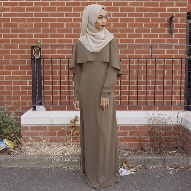 Khaki abaya from @shoppillar