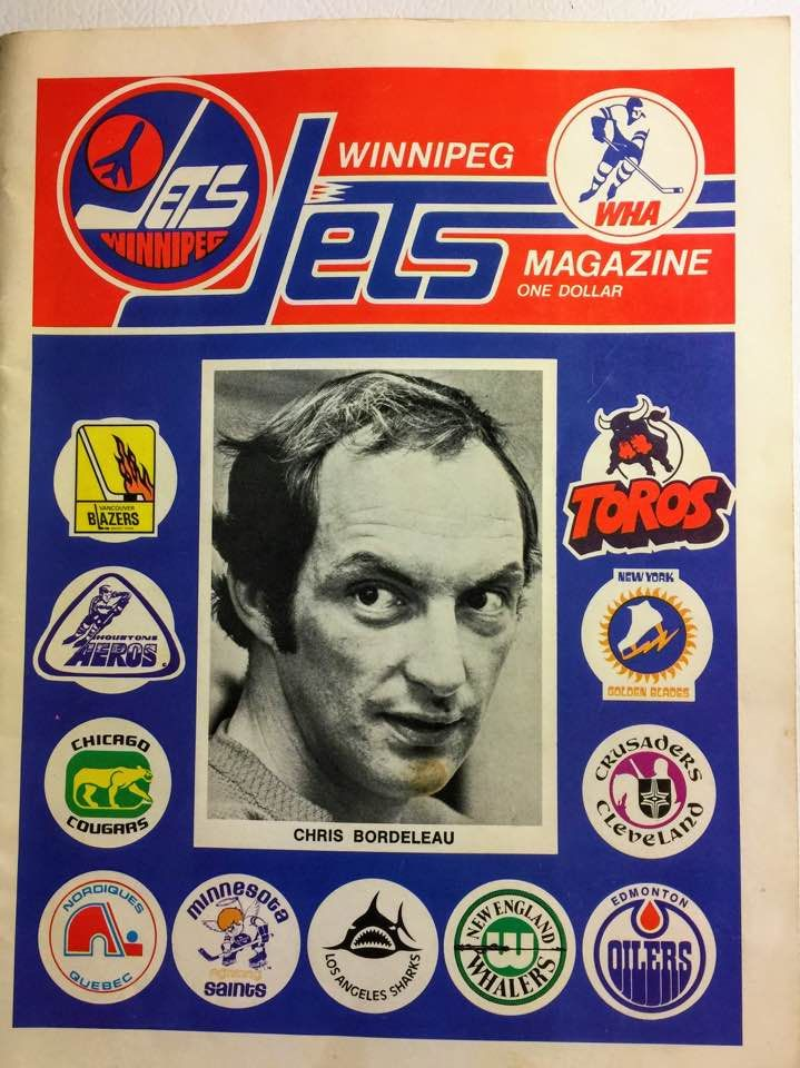 Winnipeg Jets hockey programme: earlier 1970s (WHA).