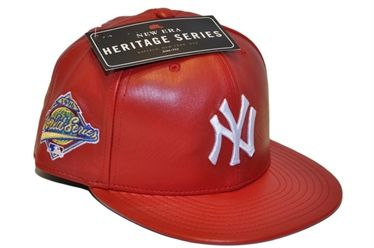 Berretto mlb leather NEW YORK Yankees hat red heritage Spike Lee