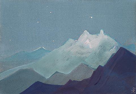 Nicholas Roerich (1874 -1947)  Himalayas  Moonlit Mountains 1933