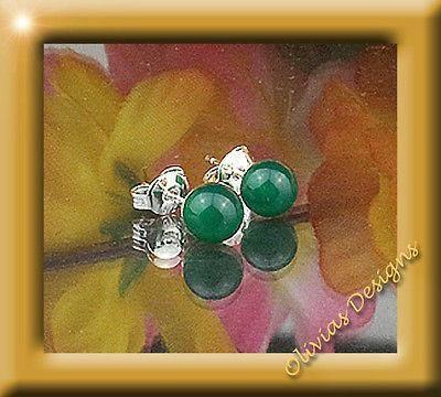 Sterlingsilber, Ohrstecker, Silber 925, Ohrringe 6mm grüne Onyx  #ohrstecker #fashion #silver #bernstein #ruby #bracelets #gold #designer #earwires #saphir