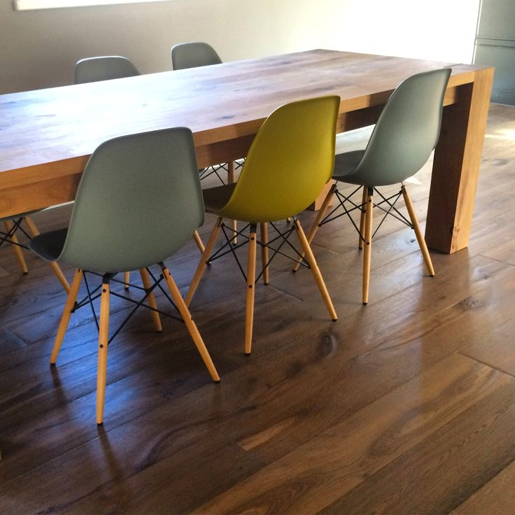 Dining chairs dsw Eames by vitra ... Dining table e15 bigfoot
