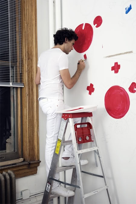 Mika painting, Blackbook magazine in Sept 2009