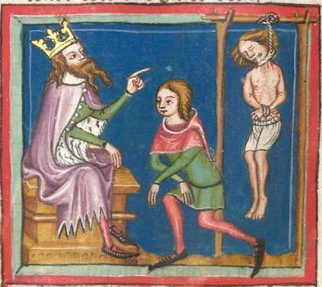 Rudolf / Jansen Enikel, Jans: Weltchronik in Versen - Mischhandschrift aus Christ-herre-Chronik um 1370 Cgm 5  Folio 56v