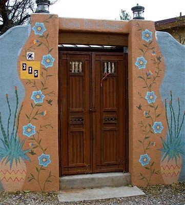 Love the flowers & double doors