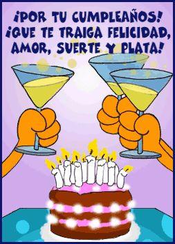 ¡Por tu cumpleaños! ¡Que te traiga felicidad!