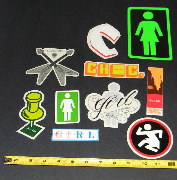 Girl Chocolate skateboard stickers Guy Mariano Rick Howard Mike Carroll #Chocolate
