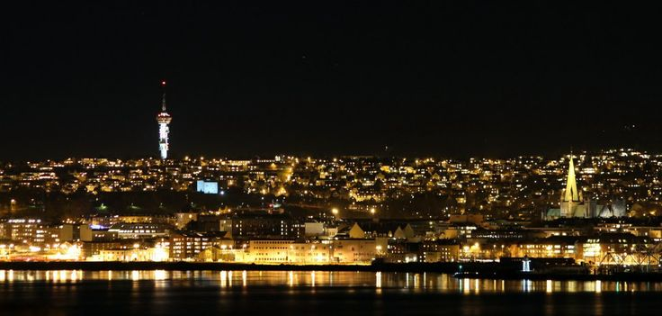 Trondheim by night