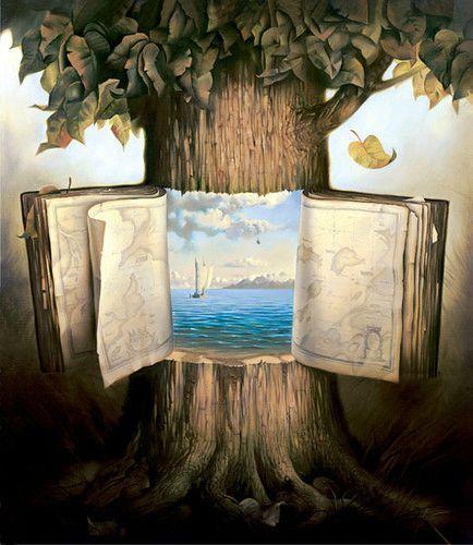 Les livres selon Vladimir Kush - Bibliophagie