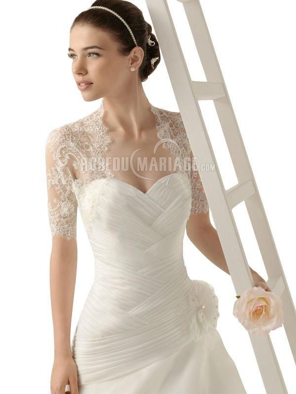 bolero mariage petit bolro manches courtes en broderies pas cher jolie robe206873 - Bolero Fourrure Mariage Pas Cher