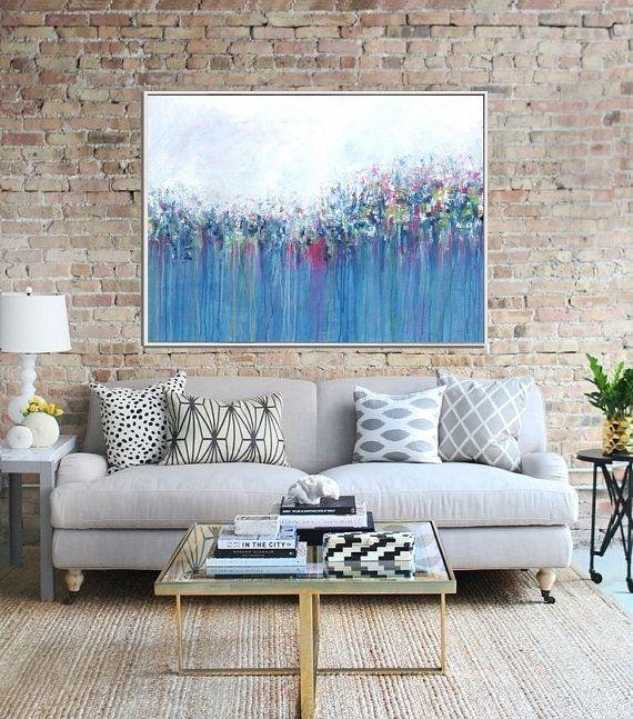Peinture abstraite, résumé des fleurs, giclée Print, impression Fine Art, Art moderne de mur, des œuvres d