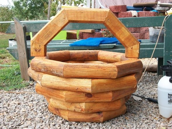 basket 2 hours , 4 landscape timbers  screws and glue, Gardens Design