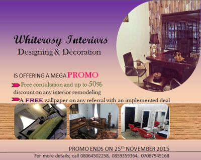 Whiterosy Interiors: Promo days is running out fast- Utilize it now