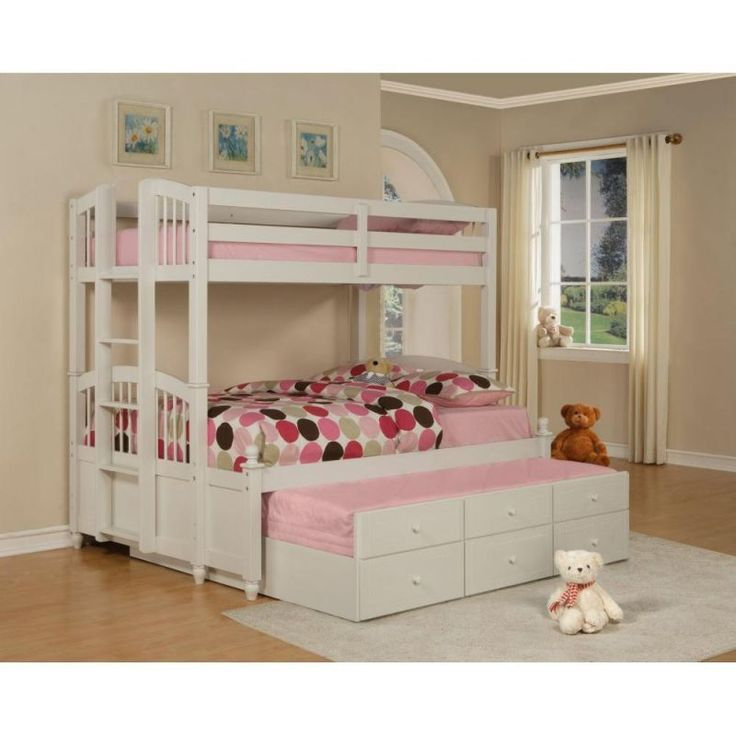17 best images about triple bed on pinterest bunk bed with trundle wall murals bedroom and. Black Bedroom Furniture Sets. Home Design Ideas