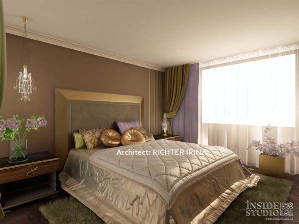Дизайн проект интерьера спальни. Архитектор Рихтер Ирина http://www.insidestudio.ru/#!flat-243/c1uxi