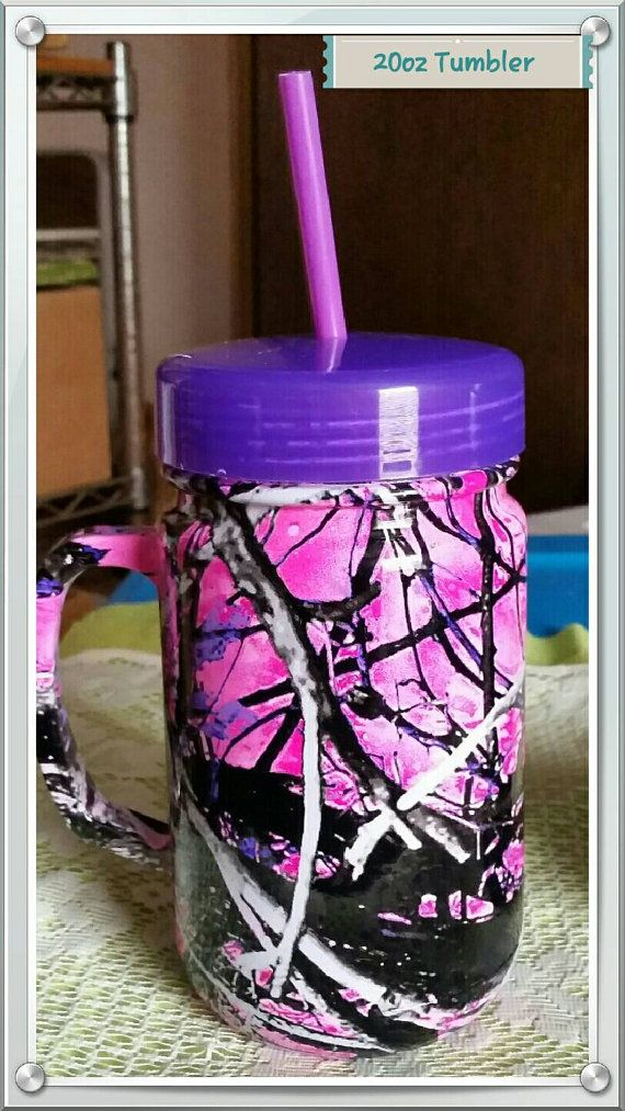 Check out this item in my Etsy shop https://www.etsy.com/listing/262219518/22oz-muddy-girl-camo-handled-mug