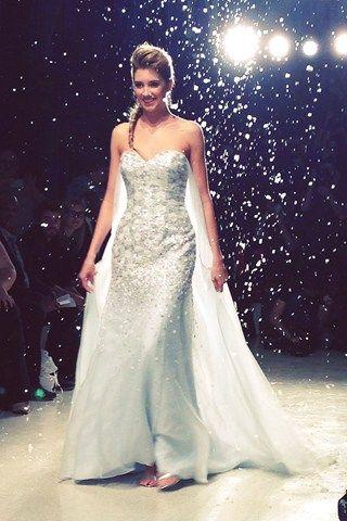 THE ELSA WEDDING DRESS!!! Alfred Angelo Disney Collection 2015 New York Bridal Market (BridesMagazine.co.uk)