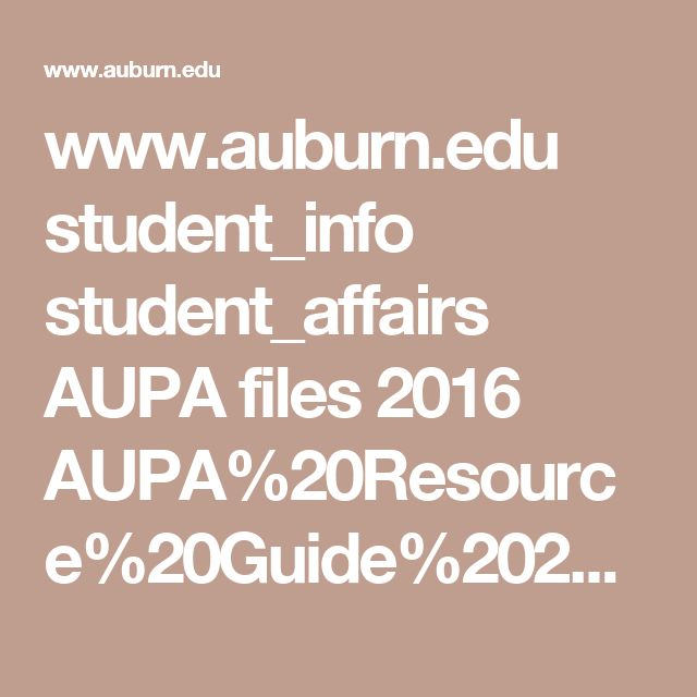 www.auburn.edu student_info student_affairs AUPA files 2016 AUPA%20Resource%20Guide%202016.pdf