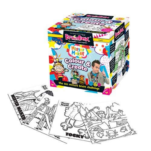 Create your very own BrainBox in this special edition. Not only can you colour in the cards, you can create your own question on every card! In association with Mister Maker and this crafty team, create a masterpiece of your own on every card. #brainbox #colourandcreate #art #learning