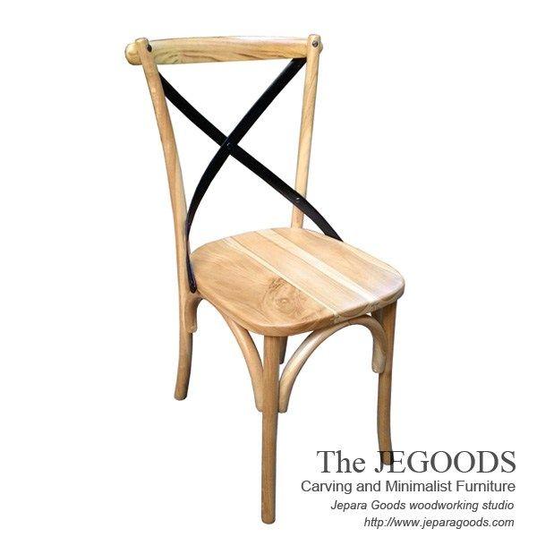 Cross Back chair, beautiful mid century retro chair manufactured by Jegoods Woodworking Indonesia. kursi silang untuk cafe, restoran, bar. Diproduksi oleh Jepara Goods