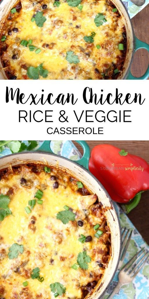 Gesundes mexikanisches Hühner-, Reis- und Veggie-Auflauf  #auflauf #gesundes #h…