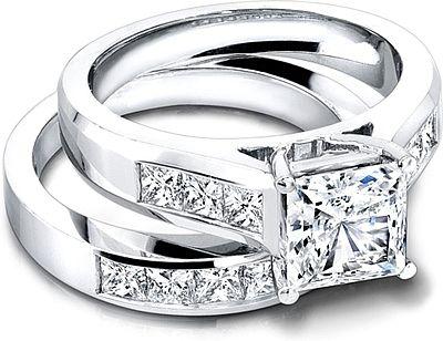 Jeff Cooper Wide Channel-Set Princess Cut Engagement Ring R3146