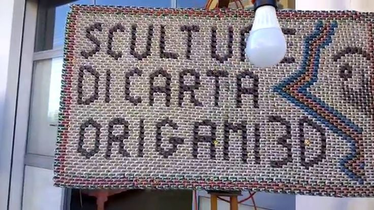 GRANDE MOSTRA DI SCULTURE DI CARTA IN ORIGAMI 3D EMILIO