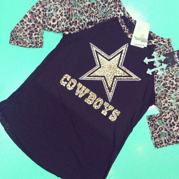 Cheetah Dallas Cowboys Raglan ($43) ❤ liked on Polyvore