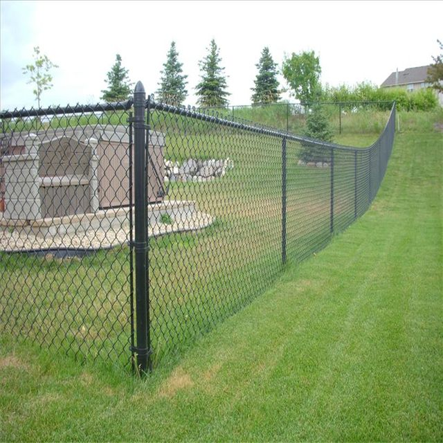 Cyclone Fence In 2020 Black Chain Link Fence Chain Fence Chain Link Fence