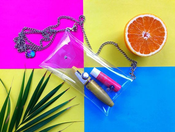 Clear phone chain for iPhone HTC Samsung Galaxy by YPSILONBAGS