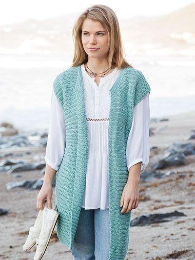 Knitting Pattern For Lace Vest : 17 best images about Knit Vest, Shawl & Wrap Patterns on Pinterest Vest...