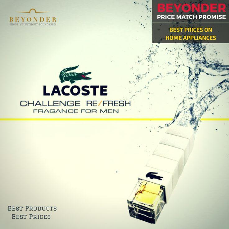 Get the Lacoste Challenge at the best price with #BeyonderPriceMatchPromise    Shop now at http://beyonder.co/fragrances/lacoste-challenge-refresh-pour-homme-edt-75ml?utm_content=social-l9xow&utm_medium=social&utm_source=SocialMedia&utm_campaign=SocialPilot