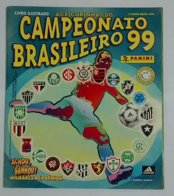álbum campeonato brasileiro 1999 incompleto