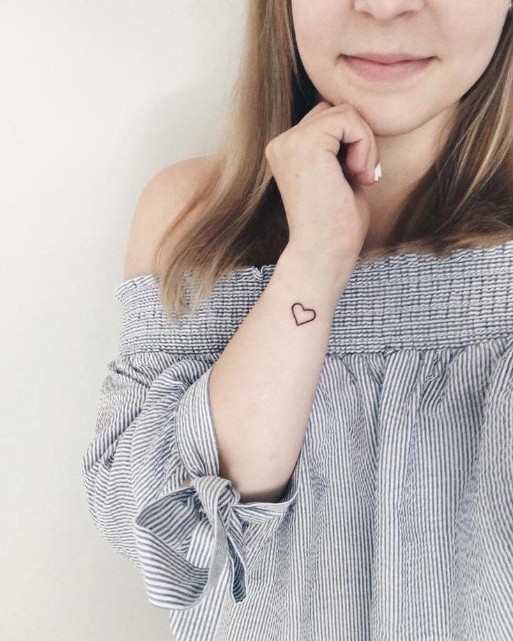 Micro Heart First Tattoo