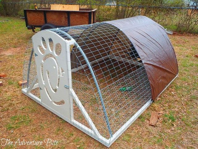 Amazing Light Weight Durable Affordable Chicken Tractor by The Adventure Bite