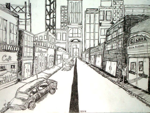 Perspective rooms buildings on pinterest perspective drawing one - One Point Perspective Drawing Images Of One Point