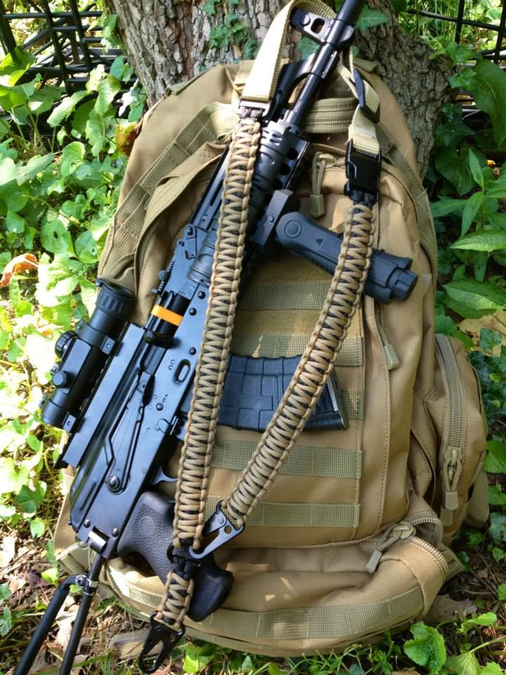 1 and 2 point paracord rifle sling | 550 | 550 paracord ...