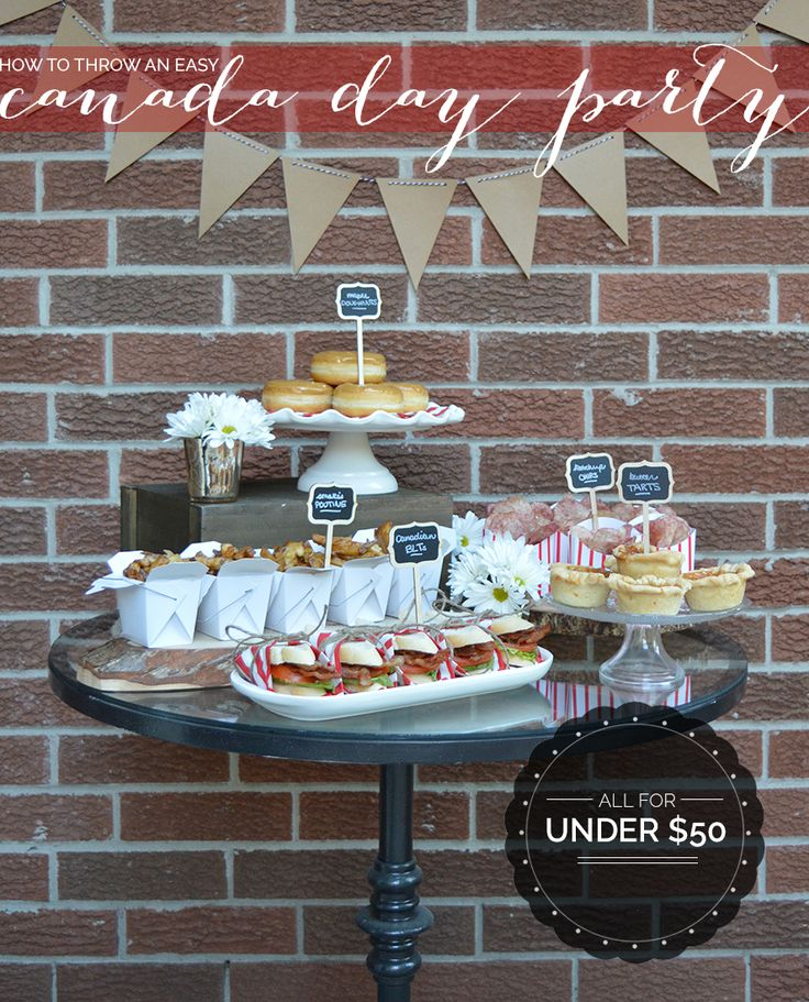 How to throw a canada day party for under 50 for Craft stores in canada