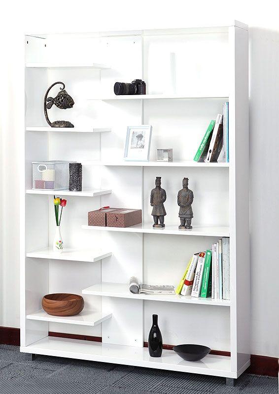 Libreria design laccata in bianco VIXY - Zoom