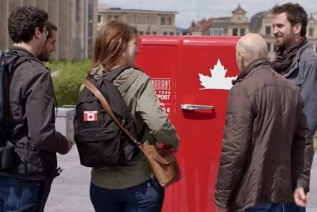 Molson Canadian launched a campaign aimed at restoring Canadian pride by placing exclusive fridges...