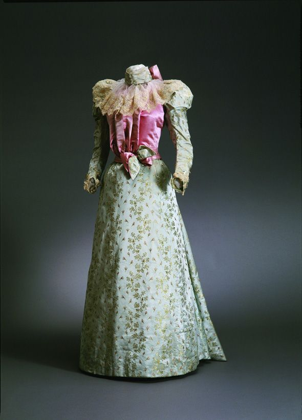 Afternoon dress, 1897. Two pieces.