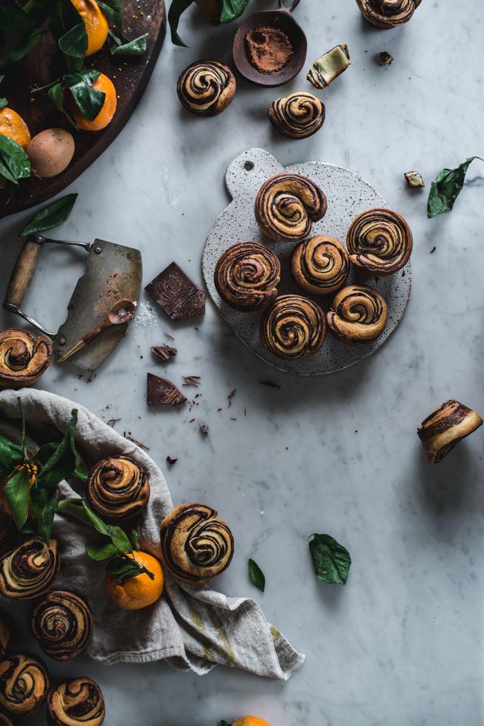 Citrus & Chocolate Brioche Buns