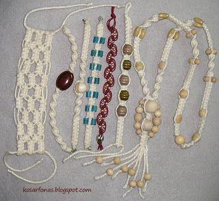 Kosárfonás, fonott kosár: Makramé karkötők
