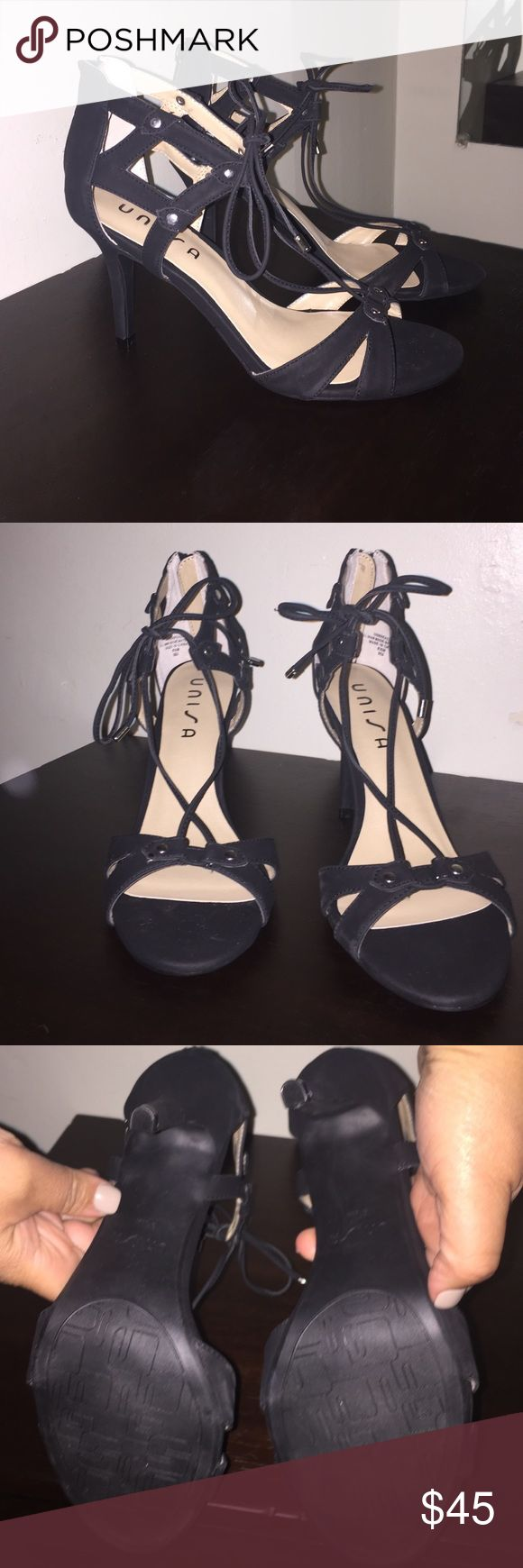 Black Strappy Dress Shoes Black Strappy Dress Shoes by Unisa. Size 8.5. Never worn. Excellent Condition. Unisa Shoes Heels