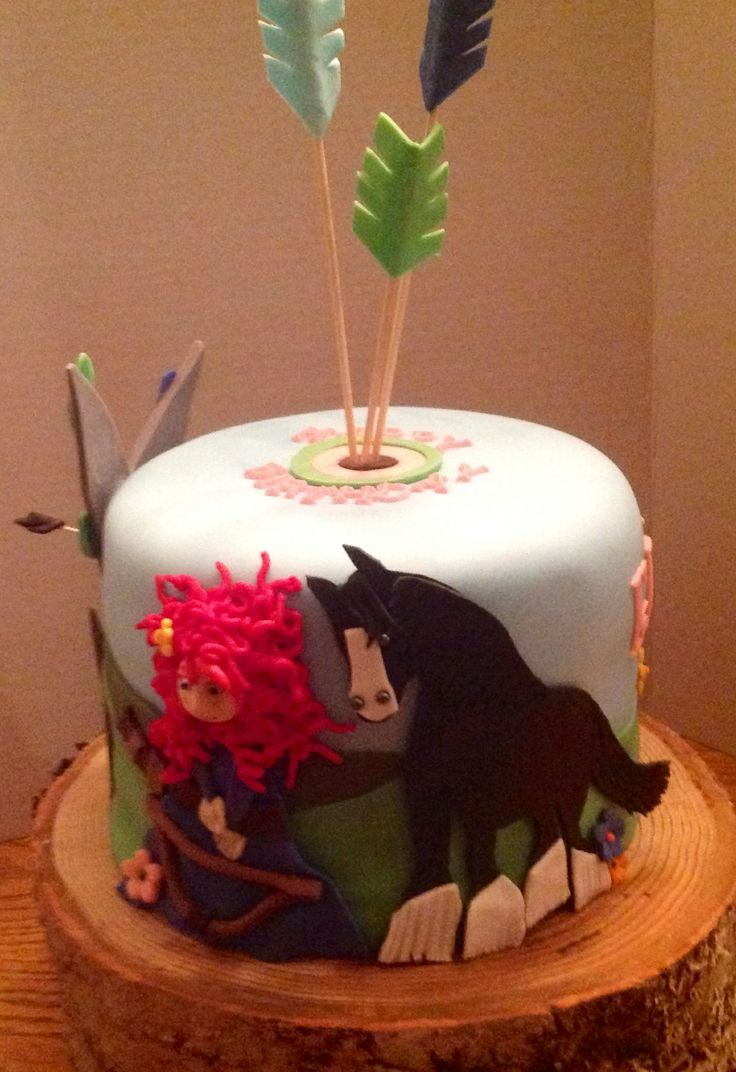 - Merida brave birthday cake :)