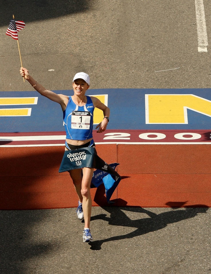 """Exclusive Q & A with Olympic Runner Deena Kastor: """"I love the workouts I dread the most! When I see weakness in my training, I get excited to overcome or become stronger.""""-Deena Kastor #dedication"""