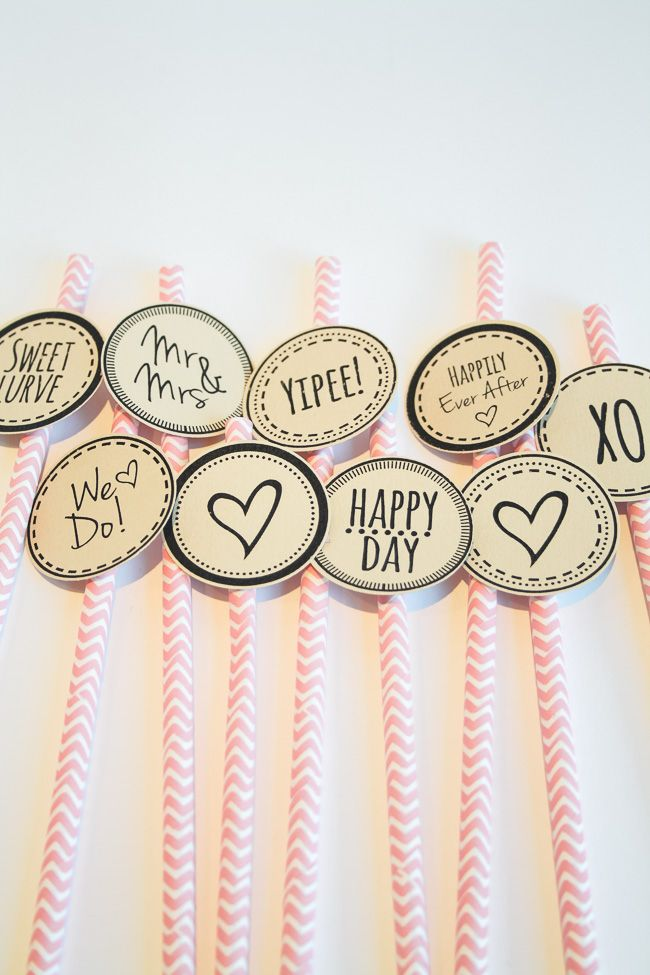 Click To Grab These Free Wedding Cupcake Topper Printables