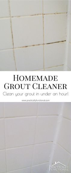 This homemade grout cleaner is such a great way to clean tile grout; all  you.