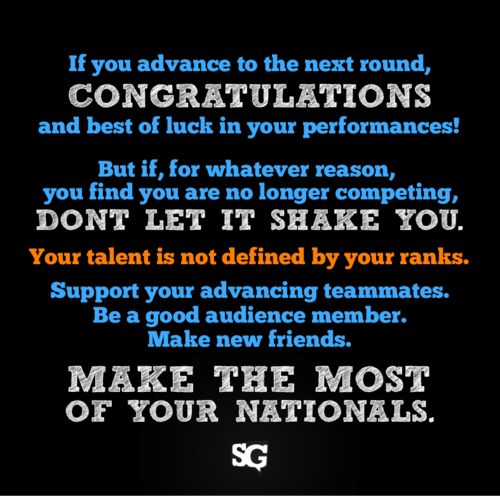 Possibly the best advice for every tournament, not just nationals