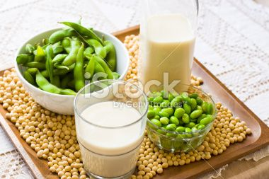 Soy Milk and Soybean Products Royalty Free Stock Photo